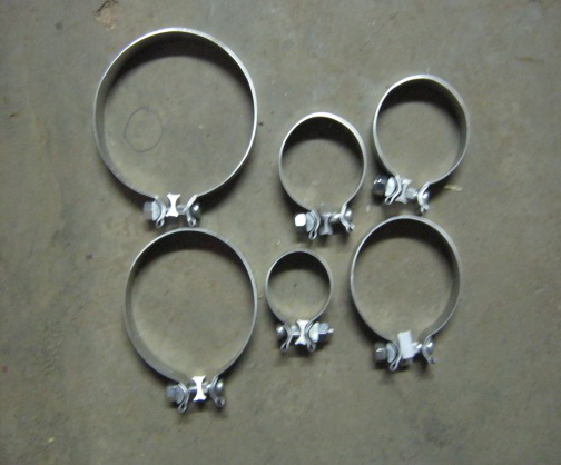 Rush Exhaust Purification - Single Bolt Clamps